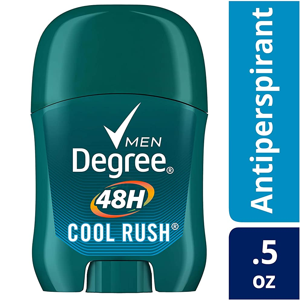 Degree Men Original Protection Antiperspirant Stick, Cool Rush, Trial Size 0.5 Ounce (Pack of 10)