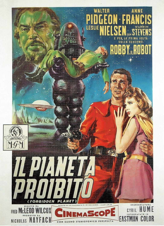 Black Creations Forbidden Planet  1956 Italian Poster Canvas Picture Art Print Premium Quality A0 A1 A2 A3 A4 (A0 Canvas (30 40))