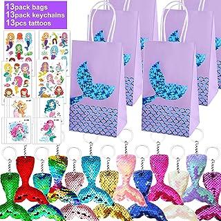 Danirora Mermaid Party Bags, Mermaid Party Favors Mermaid Keychains for Kids Birthday Party Supplies Mermaid Goodie Bag Fi...
