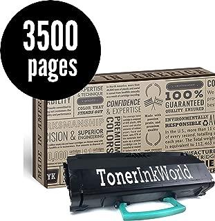 TIW E260 Replacement Black Toner Cartridge for Lexmark E260, E260d E260dn, E360, E360dn, E460 Printers High Yield 3500 Page Printing Home or Commercial Use, Cartridge No E260A21A & E260A11A