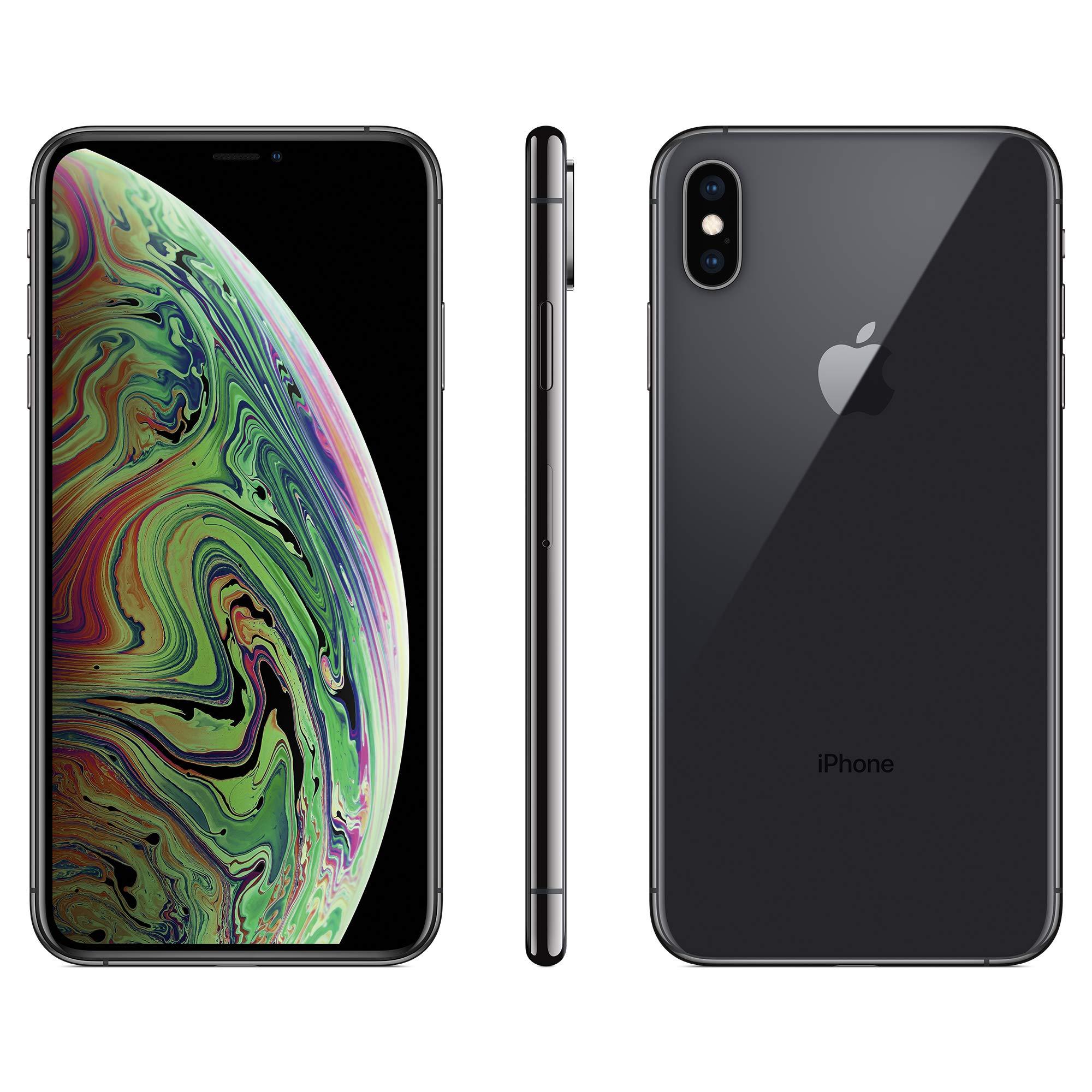 Apple iPhone Xs Max, Boost Mobile, 64GB - Gray - (Renewed)