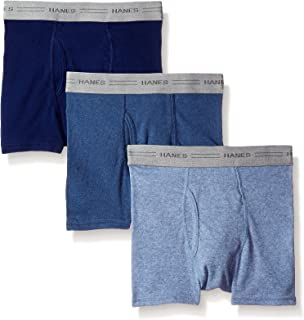 سروال داخلي قصير مصبوغ مريح ومرن من 3 قطع من هانز بويز