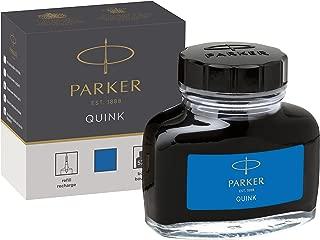 PARKER QUINK Ink Bottle, Washable Blue, 57 ml