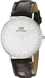 Daniel Wellington 丹尼爾?惠靈頓 瑞典品牌 Classic系列 銀色表圈表扣 石英手表 女士腕表 尼龍表帶