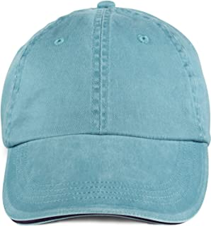 Anvil 6-Panel Pigment-Dyed Twill Sandwich Baseball Cap 166