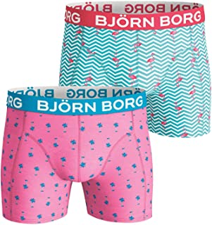 Bjorn Borg Shorts Bb Mini Palms & Bb Flamingo Stripe 2p Boxer Shorts