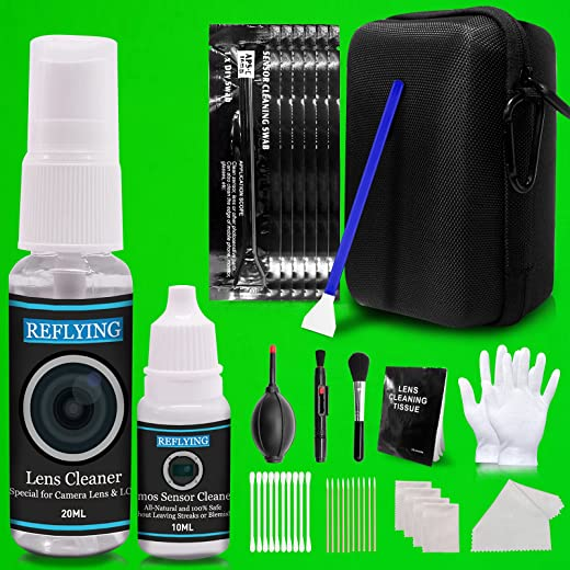 REFLYING Camera Cleaning Kit, Lens Cleaning Kit with Camera Lens Cleaner 20ml,Sensor Cleaner 10ml,Lens Cleaning Pen,16mm Sensor Cleaning Swabs for...