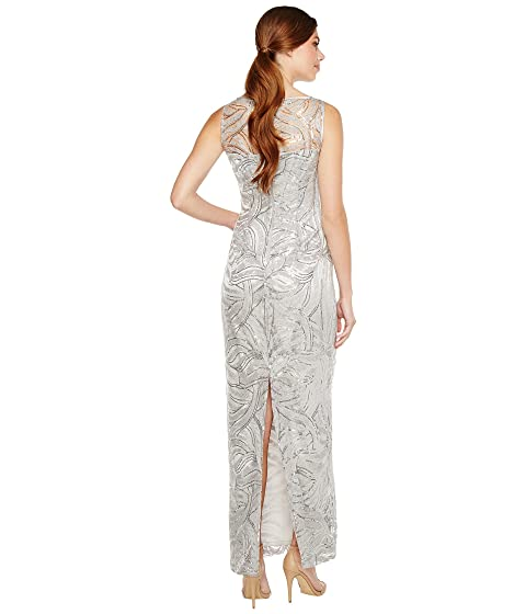 Embroidered ASL Tahari Sequin by Gown PX0P8Fn