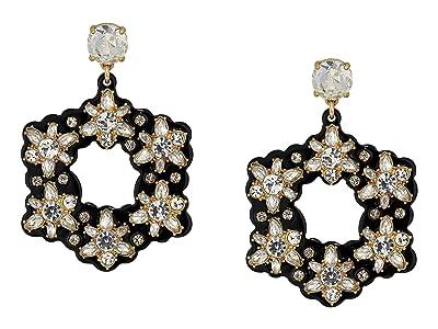 J.Crew Starflower Collage Earrings (Crystal) Earring