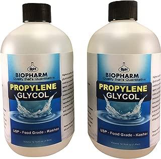 Propylene Glycol USP, Kosher, Food Grade 2-Pack 500 mL Each