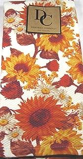 Deborah Connolly Autumn Flowers Kitchen Tea Towel Set Multi Color 100% Cotton 18