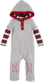 Baby Boys' Romper Jumpsuit, 100% Organic Cotton One-Piece Coverall