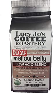 Lucy Jo's Coffee, Organic Decaf Mellow Belly Low Acid Blend, 11 oz (Ground)