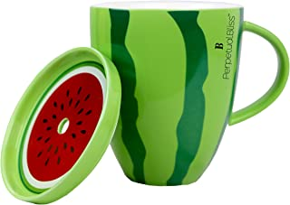 Perpetual Bliss Fruit Theme Ceramic Mug for Tea; Coffee; Milk; Juice; 13x10x16 cm