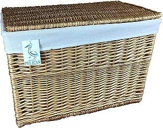 Larges paniers en Osier. Doublure Amovible Lavable. Solution de Rangement. Parfaits pour Le Linge de lit, Les Jouets, Les ...