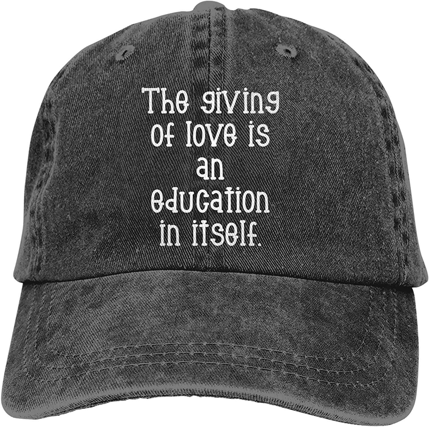 The Giving of Love is an Education in Itself Hat Adjustable Washed Unisex Dad Hat Cowboy Cap Denim Cap Baseball Cap