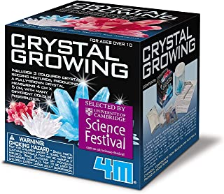 Crystal Growing Science Kit - Easy DIY STEM Toys Lab Experiment Specimens, A Great Educational Gift for Kids & Teens, Boys...