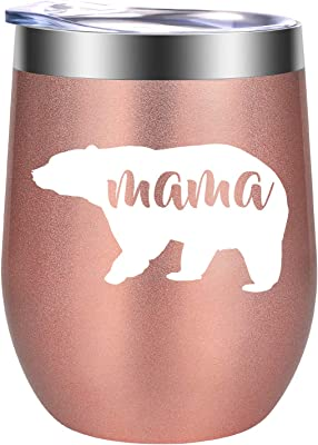 Mom Gifts, Mothers Day Gifts for Mom - New Mom Gifts, First Mothers Day Gifts - Funny Baby Shower, Birthday Wine Gifts for Mom, Wife, Mom to Be - Mama Gifts, Mom Gifts for Women - GSPY Wine Tumbler