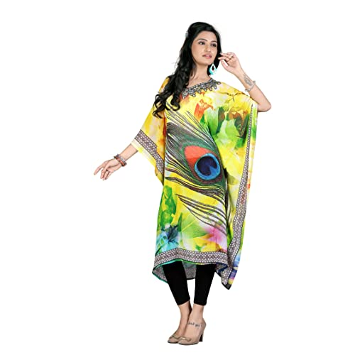 fa3b55a7711 High Street Fashion Style Women's stone work digital printed kaftan
