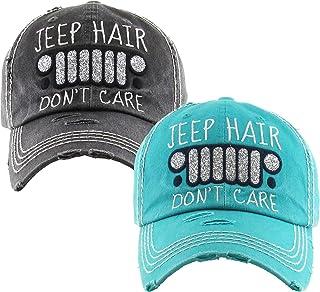 KB Adjustable Jeep Hair Dont Care Western Distressed Ladies Sun Visor