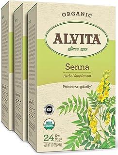 Alvita Organic Senna Herbal Tea - Made with Premium Quality Organic Senna Leaves, And A Mild Bitter Flavor, 72 Tea Bags (3...