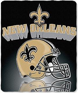 NFL New Orleans Saints Gridiron Fleece Throw, 50 x 60-inches