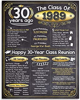 30th High School Reunion Class of 1989-11x14 Unframed Art Print - Makes a Perfect High School Reunion Decoration Under $15