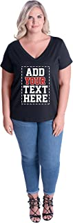Custom Plus Size V Neck Womens T Shirts - Design Your OWN Ladies Plus Size Tops