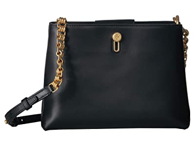 Tory Burch Lily Chain Crossbody (Black) Cross Body Handbags