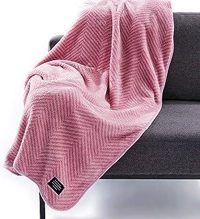 gloony グルーニー 着る毛布 2018ver ブランケット マイクロファイバー ひざ掛け 肌掛布団 毛布 静電気防止 シングル おしゃれ 大判 ツイードピンク