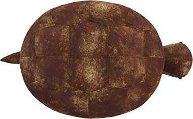 CRITTER SITTERS Brown 14-in. Seat Height Turtle Animal Shape Storage Ottoman