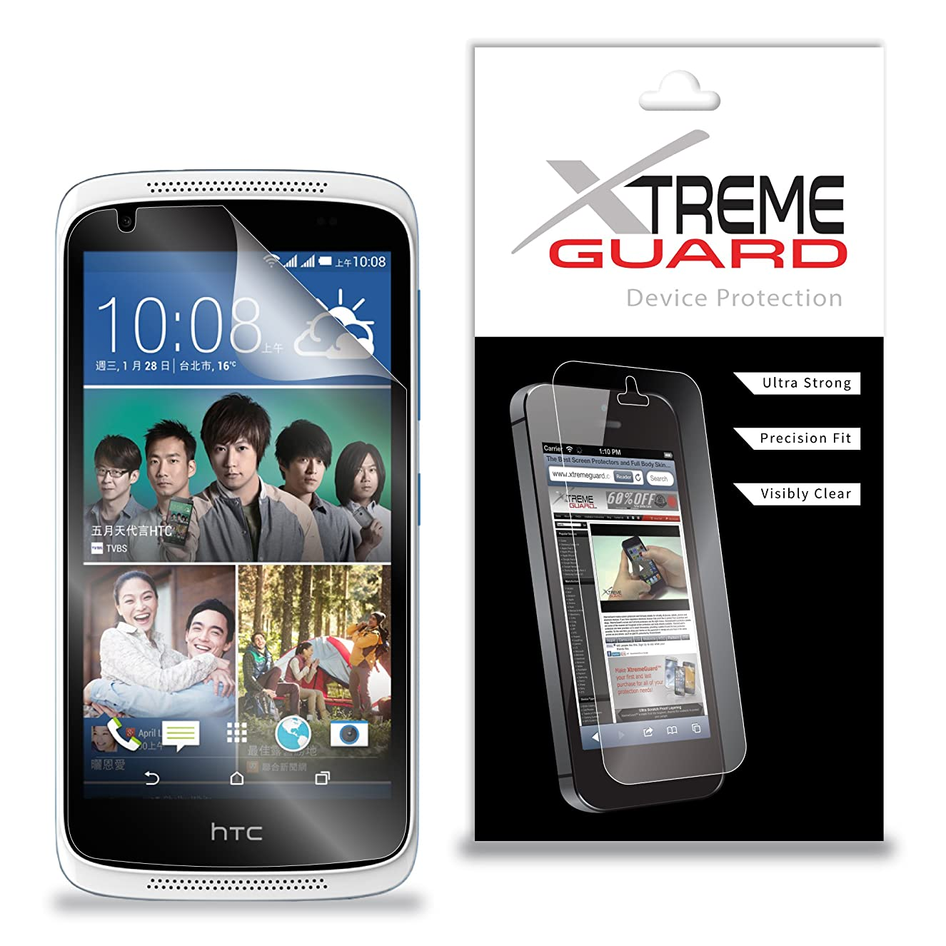 Premium XtremeGuard Screen Protector Cover for HTC Desire 526 (Ultra Clear)