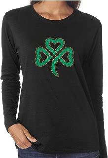 Shamrock MD Rhinestone and Glitter Long Sleeve Shirts St. Patrick's Day
