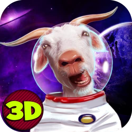 Space Goat Sim 3D – 2: Open Space Animal Simulator | UFO Games Space Explorer Astronaut Simulator Goat Games
