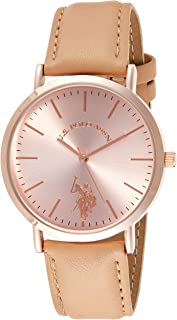 U.S. Polo Assn. USC42030 Women's Quartz Watch, Analog Display and Stainless Steel Strap