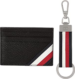 Tommy Hilfiger Downtown Card Case Holder, Black, AM0AM05671