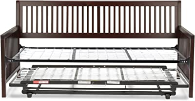 Leggett & Platt Mission Complete Wood Daybed with Link Spring Support Frame and Pop-Up