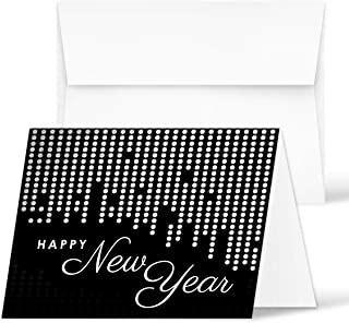 """2020 Happy New Year Cards – Holiday Greetings Fold Over Cards & Envelopes – for New Year's Gifts and Presents 