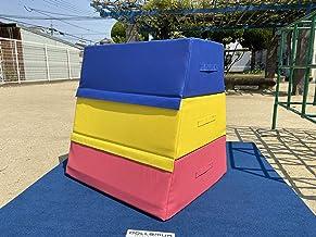 ソフト跳び箱(3段)80cmx80cmx70cm