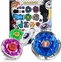 ACGEARY Metal Master Fusion Storm Pegasus/Flame Libra/Earth Eagle/ Lightning L-Drago with 4D Launcher Grip Gyro top Flight...