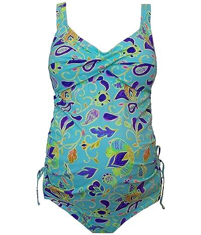Prego Maternity Wear Paisley Twist Tankini (Multi) Women