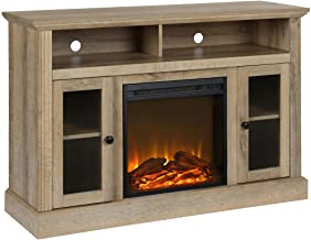 "Ameriwood Home Chicago Fireplace TV Stand for TVs up to 50"", Natural"