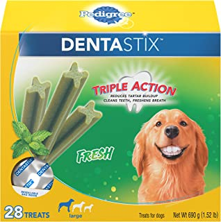Pedigree Dentastix Fresh Treats for Large Dogs, 30+ pounds