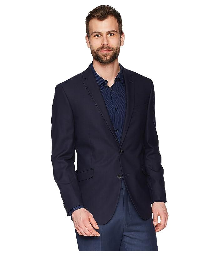 Kenneth Cole Reaction Techni-Cole Stretch Suit Separate Blazer (Navy Shadow Check) Men