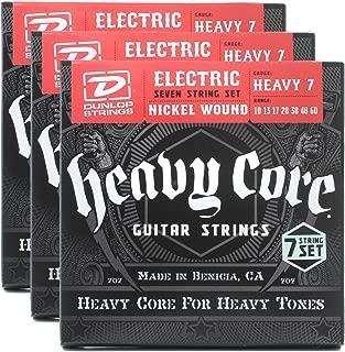 3 Sets of Dunlop DHCN1060 Heavy Core 7/SET Electric Strings