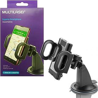 Multilaser CP118S Suporte Universal Veicular Para Smartphone Compacto, Preto