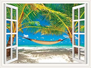 hammock between palm trees