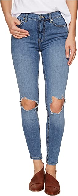 Free People - High-Rise Busted Skinny in Light Denim