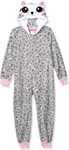 St. Eve Girls' Big Character Hooded Fleece Blanket Sleeper, Leopard, S