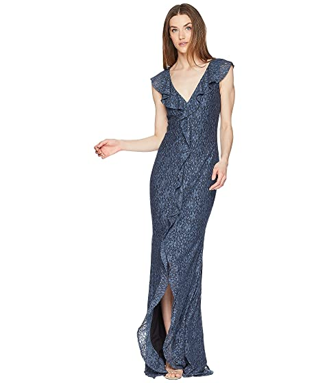 ZAC Zac Posen Kyra Gown Flint Outlet For Cheap Genuine For Sale Cheap Cheap Online g4apJm